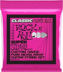 Ernie Ball 2253 Electric Guitar Strings 9-42 Super Slinky