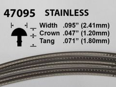 Stainless Steel Fretwire #47095 - Oversize Medium Gauge - 1.8 metres
