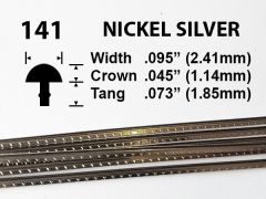 Nickel Silver Fretwire #141 - Wide Medium Gauge - 1.8 metres