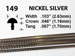 Nickel Silver Fretwire #149 - Jumbo Gauge - 1.8 metres