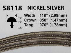 Nickel Silver Fretwire #58118 - Super Jumbo Gauge - 1.8 metres