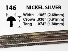 Nickel Silver Fretwire #146 - Low Jumbo Gauge - 1.8 metres