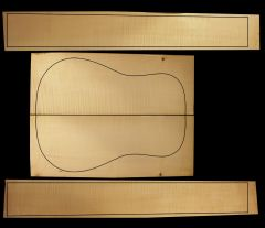 German Maple Acoustic/Classical Back & Sides Set #6 - Highly Figured 1st Grade