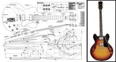 Gibson ES-335 Hollowbody Electric Guitar Plan