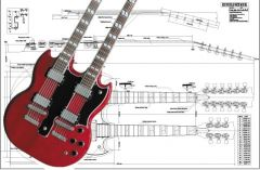 Gibson EDS Double-Neck SG Electric Guitar Plan