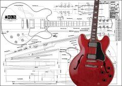 Gibson ES-355 Hollowbody Electric Guitar Plan