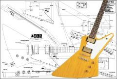 Gibson Explorer Electric Guitar Plan