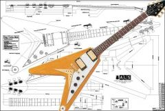 Gibson Flying V Korina Electric Guitar Plan