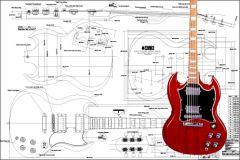 Gibson SG Electric Guitar Plan