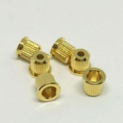 Gotoh TLB-1G String Ferrules - Set of 6 - Gold