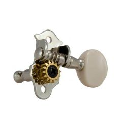 Grover Sta-Tite 9NW Ukulele Tuners 2+2 - Nickel With White Buttons