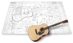 Martin Dreadnought Acoustic Guitar Plan
