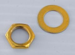 Nut & Washer for Jacks or USA Pots - Gold