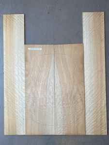 Queensland Maple Silkwood Back & Sides Set #44 - Highly Figured 1st Grade