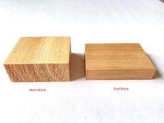Queensland Maple Ukulele Neck Block and End Block Blank Set