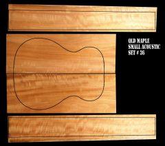 Queensland Maple Back & Sides Set #36 - OM/Classical Size - Highly Figured 1st Grade