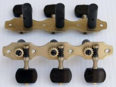 Rubner 9110-EH Deluxe Classical Guitar Tuners with Ebony Buttons