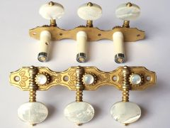 Rubner S140-P Classical Guitar Tuners with Ball-Bearings & Mother of Pearl Buttons