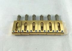 Gotoh S11G Solid Brass Replacement Saddles - Set of 6 - Gold