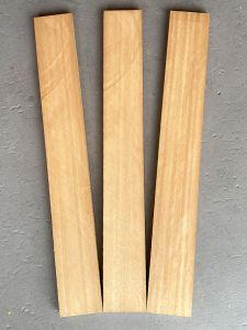 Sapele Mahogany Neck/Heel Blanks for Acoustic Guitars - Set of 3