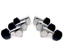 Gotoh SG301-EN01C Tuners 3+3 Chrome with Ebony Buttons