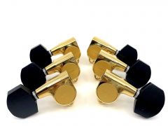 Gotoh SG301-EN01G Tuners 3+3 Gold with Ebony Buttons