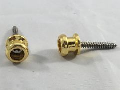 Allparts Endpins for Straplocks - Set of 2 with Screws - Gold