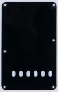 Allparts PG-0556-023 Strat Style Rear Cover - Black 1-Ply