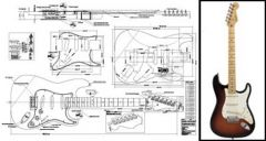 Stratocaster-Style Electric Guitar Plan