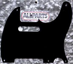 Allparts PG-0560-023 5-Hole Tele Style Pickguard - Black 1-Ply