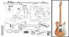 Thinline Telecaster-Style Electric Guitar Plan