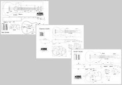 Ukulele Plans Set of 3 - Soprano, Concert & Tenor