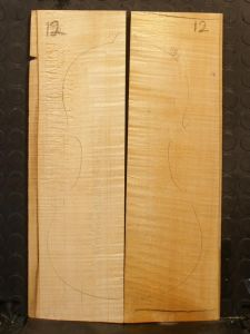 German Maple Violin/Viola/Mandolin Back #12 - AAA Grade